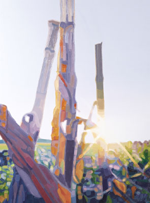 Friederike Hinz Malerei MON-810-Installation Bild 2